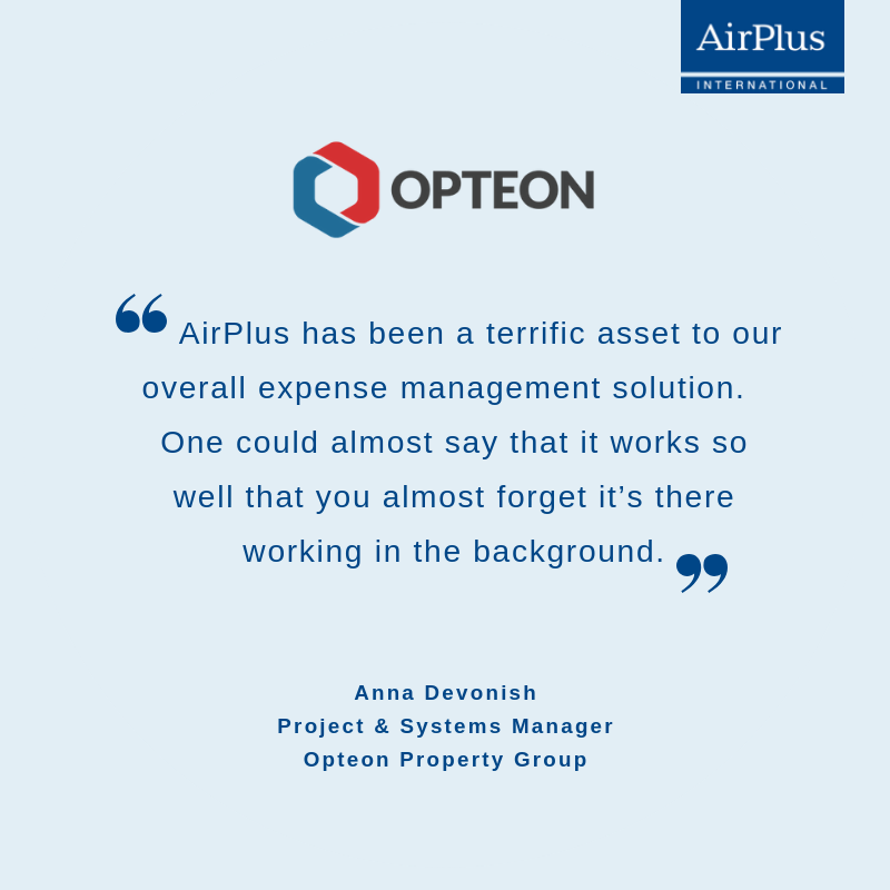 Quote from AirPlus customer Opteon