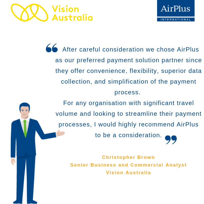 Quote from AirPlus Customer Vision Australia