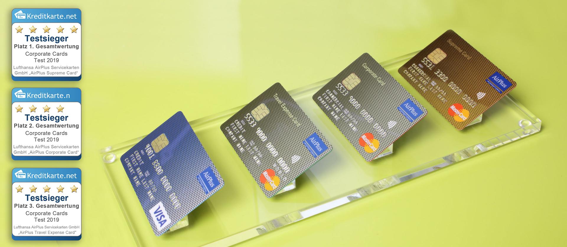 Kreditkarten von AirPlus sind Sieger im Vergleichstest von kreditkarte.net