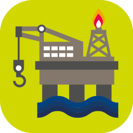 Oil gas marine icon